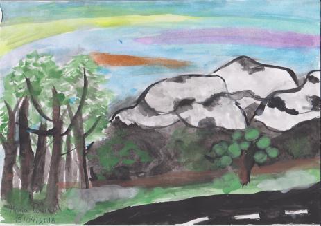 As montanhas e a floresta.